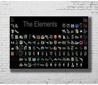 24x36 14x21 40 Poster Periodic Table of the Elements Realistic Art Hot P-590
