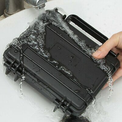 Black Waterproof Outdoor Portable Tool Dry Box Hard Plastic Storage Case