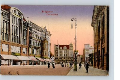 Bydgoszcz plac teatralny THEATER SQUARE polish POSTCARD Long Live Poland