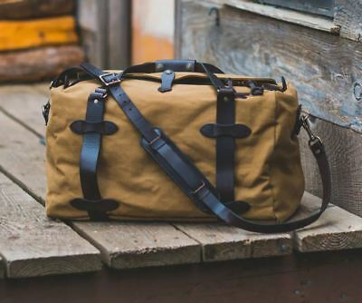 e03f812459 FILSON MEDIUM RUGGED Twill Duffle Bag Tan -  315.00