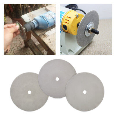 "6"" Flat Lapidary Grinding Polishing Wheel Disk Grit 500/1200/3000 Diamond Coated"