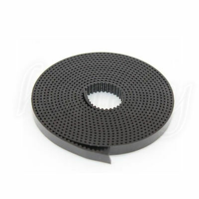1~20 Meter 2GT 6mm PU Wire Pulley Timing Belt GT2 for 3D Printer Prusa Black New