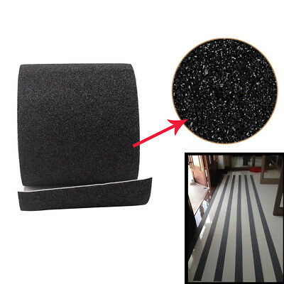 Black Safety Non Skid Tape Abrasive Anti Slip Grit Tape Sticker Indoor Outdoor