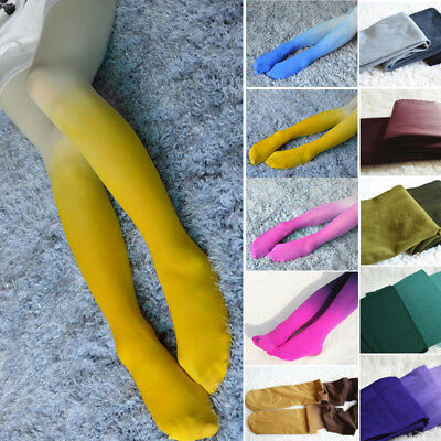 Women Gradient Color Fashion Velvet Girls Print Sexy Pantyhose Stockings Tights