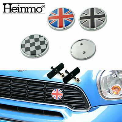 Front Grille Grill Badge Emblem &Sticker For All MINI Cooper R50 R55 R56 R60 R61