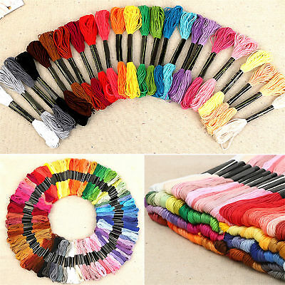 50 Color Egyptian Cross Stitch Cotton Sewing Skeins Embroidery Thread Floss FO