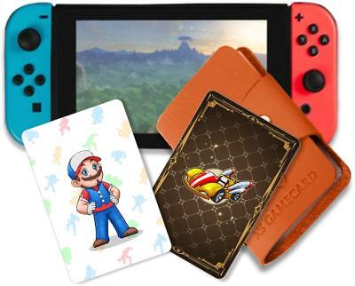 NS Full Set 20pcs NFC Tag Game Cards For Mario Kart 8 Deluxe Free Card Holder