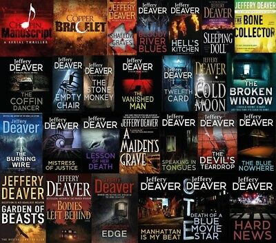 27 Audiobooks – Jeffery Deaver Complete Audiobook Collection  (MP3-DVD)