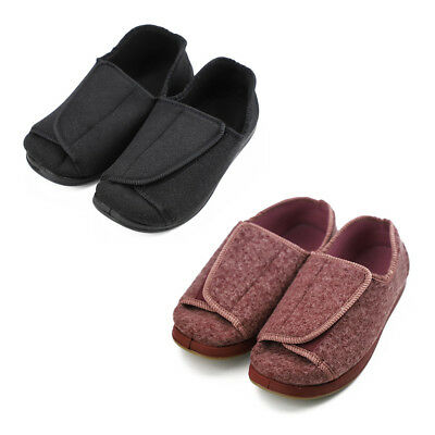 Women's Extra Wide Diabetic Shoes Adjustable Slippers for Edema Orthopaedic