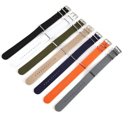 Nylon Watch Strap Quality Band Sport Army Military Wrist Bands 18mm 20mm 22mm US