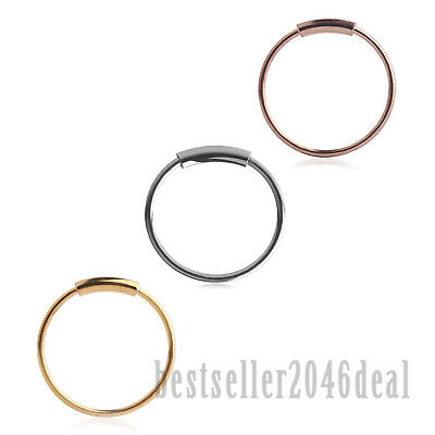 3pcs Surgical Steel Seamless Hoop Rings Nose Eyebrow Tragus Lip Ear Ring 22G