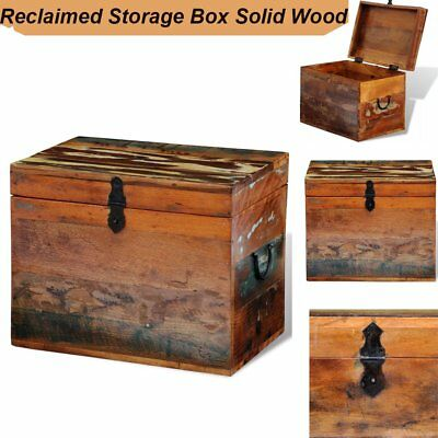 Rustic Wood Storage Chest Reclaimed Box Coffee Side Table Handmade Trunk Funture