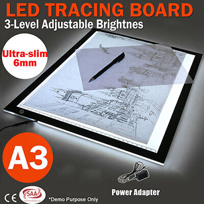 A3 LED Light Box Tracing Board Art Design Stencil Drawing Pad Thin Copy SE