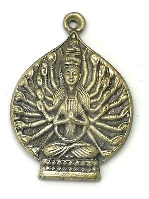 Thai Amulet Buddha Pendant Phra Kuan Im  Monk Talisman Powerful Magic Lucky Gift