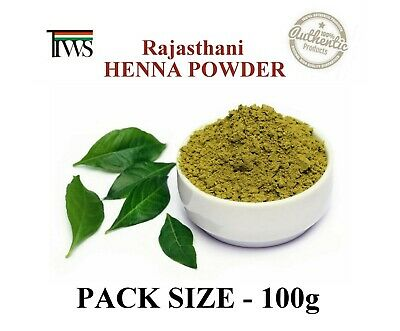 100% Pure Rajasthani Hena Henna Mehndi Powder Hair Hands Foot Art-Pack of 100gm