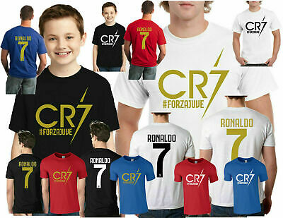 Cristiano Ronaldo T-Shirt, Cr7 Juventus Forza Soccer Lovers Gift Unisex Top