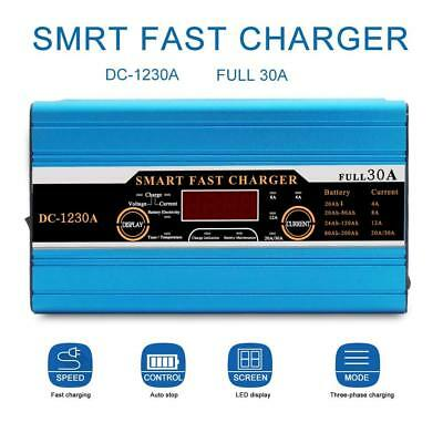 12V Leisure Battery charger 30A 30AMP Automatic Intelligent Charger Car Van Boat