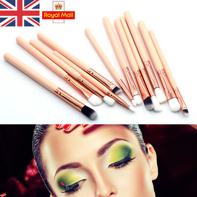 UK 12x Professional Eyeshadow Blending Pencil Eye Brushes Make-up Tool Cosmetic