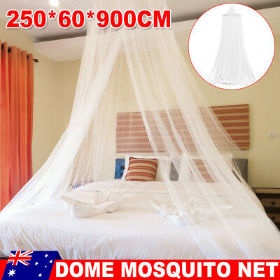 Double Single Queen Canopy Bed Curtain Dome Stopping Mosquito Net Bedcover
