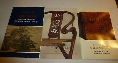 3 Lot Shanghai Museum Chinese Ming and Qing Furniture,Seal, Painting Gallery,307