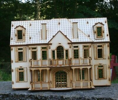 Laser cut ply wood wooden Manor House 3d puzzle / Kit