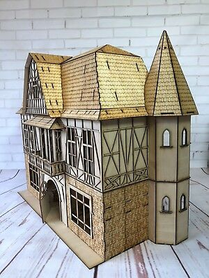 Laser cut ply wood wooden Miniature Tudor Dolls House Kit 3d puzzle / Kit