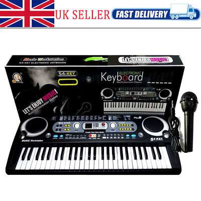 54 Keys Digital Electronic Keyboard & Microphone Mic Electric LED Adult Size Set