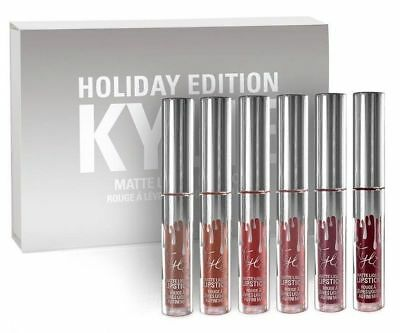 Kylie Holiday Collection - 6pcs Lip Gloss & Matte Set Limited Edition-New