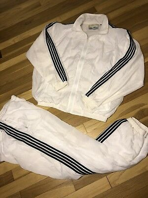 80s VTG SOLARE SPORTA Windbreaker Track Suit Pants Two Piece 90s Retro HIP HOP