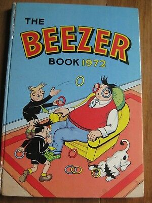 'The Beezer Book' 1972: vintage comic annual (original) in good condition.