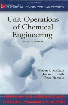 4DAYS DELIVERY- Unit Operations of Chemical Engineering by McCabe, 7TH INT'L ED.