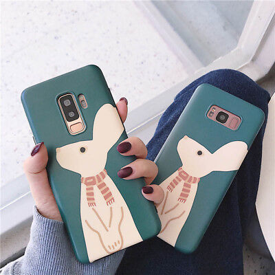 Cartoon Rabbit Cute Soft Case For Samsung Galaxy S8 S9 Plus Note Huawei iPhone