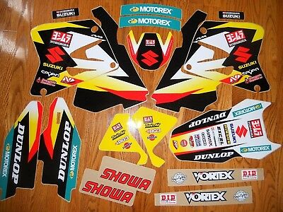 TEAM YOSHIMURA SUZUKI RM125 RM250 GRAPHICS KIT ( 2001 to 2008 ) N40-4672 On Sale