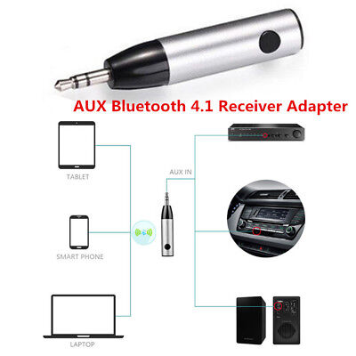 3.5mm Car AUX Bluetooth 4.1 Wireless Stereo Audio Music Receiver Adapter Bullet