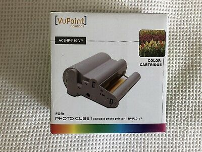 Vupoint Acs Ip P10 Vp Color Cartridge For Photo Cube Printer Ip P10