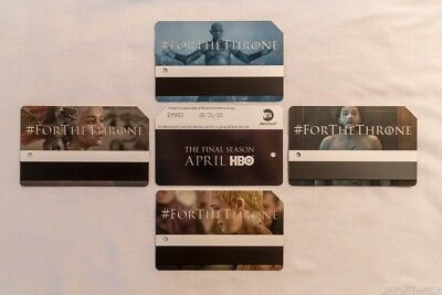 NYC Game Of Thrones MetroCard Limited Edition Complete Set (4)