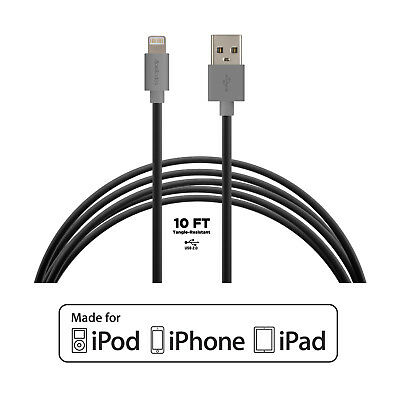 3Pack Acellories 10 Ft Apple MFi Certified Lightning Cable Charger iPhone&ipad