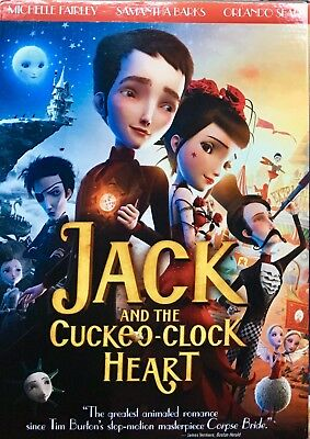 Brand New Sealed w/ Slipcase DVD JACK AND THE CUCKOO-CLOCK HEART (2013)