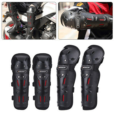 4× Motorcycle Knee Elbow Adult Shin Armor Bike Protector Guard Pad Gear Off-road