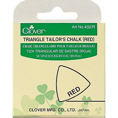 Clover Triangle Tailors Chalk, Red - Chalk Chalk Fabric Craft Quilting Tracing