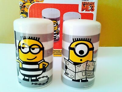 Officially Licensed Despicable Me 3 Minions Characters Salt and Peppers Shakers