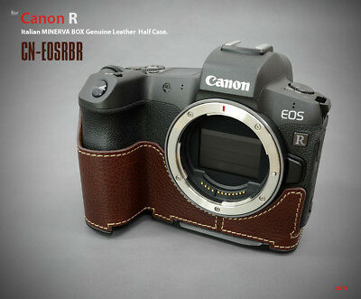 Lim's Design Lims CN-EOSRBR Genuine Italy Leather Case for Canon EOS R, Brown