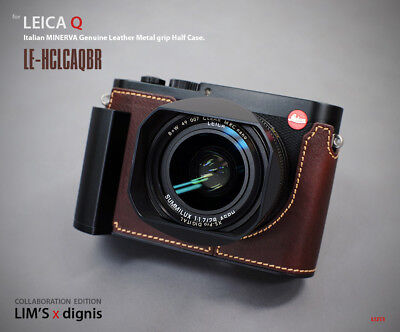 Lim's Design Lims Genuine Italy Leather Case for Leica Q Brown