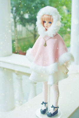 Pink Wizard Cloak Outfit Coat For Female 1/4 17in 44CM BJD MSD AOD DOD Doll LUTS