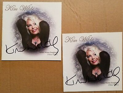 2 Kim Wilde Signed Autographed Wilde Winter Songbook Deluxe Edition CD booklet