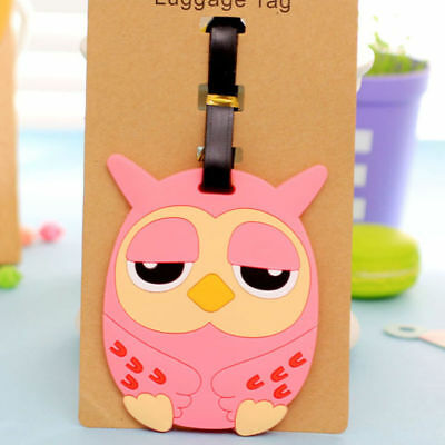 Cute Cartoon Luggage Baggage Tags Labels Name Address ID Suitcase Travel