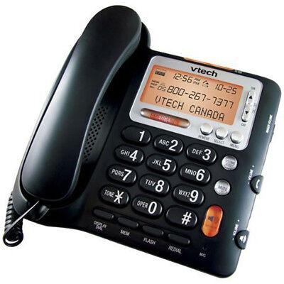 VTech CD1281 Corded Big Button Telephone with Volume Boost and Caller ID