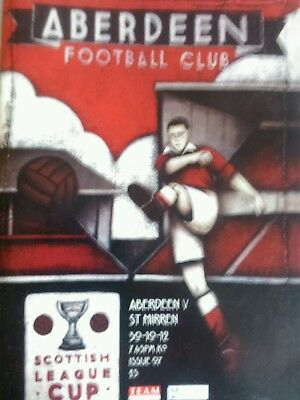 Aberdeen v St Mirren League Cup Saints go on to win Cup. Rare. 30/10/12