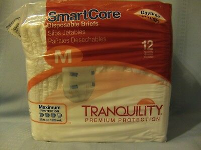 Tranquility SmartCore Disposable Adult Diapers~Size Medium~Pack of 12