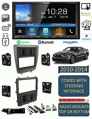 2010-2014 Mustang Kenwood Waze Navigation Apple Android Bluetooth Usb Car Stereo